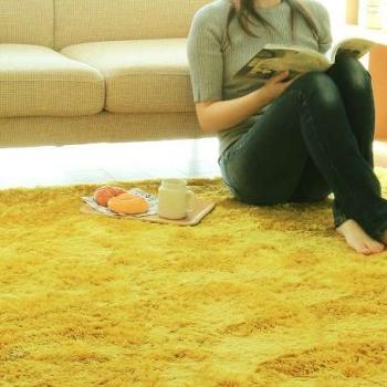 Soft Yellow Gold Microfibre Carpet