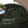Круглый тёмно зелёный ковёр JumKids Sweet Forest c высоким ворсом