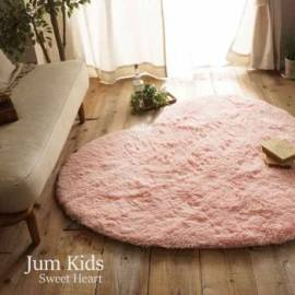 Pink heart rug