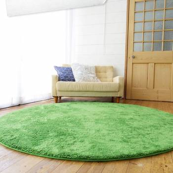 Soft Round Modern Green Grass Carpet
