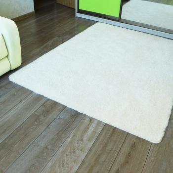 Soft rectangular white Jumkids Carpet