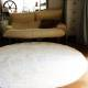 Белый пушистый круглый ковер JumKids Sweet White