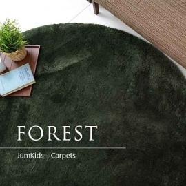 Зелёный ковёр с ворсом JumKids Sweet Forest