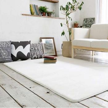 Ковер квадратный белый с коротким ворсом JumKids Memory Foam Ivory