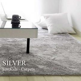 Серый прямоугольный ковер JumKids Sweet Silver