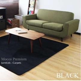 Черный  ковер с коротким ворсом JumKids Mocco Premium