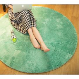 Бирюзовый круглый ковер с ворсом - JumKids Sweet Green Mint