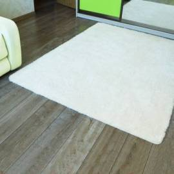 Белый пушистый ковер с длинным ворсом JumKids Sweet White