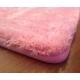 Розовая ковровая дорожка с высоким ворсом для девочек в комнату