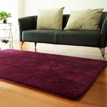 Фиолетовый ковер с длинным ворсом
