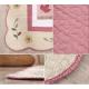 Розовый ковер  в детскую комнату для девочек не скользящие